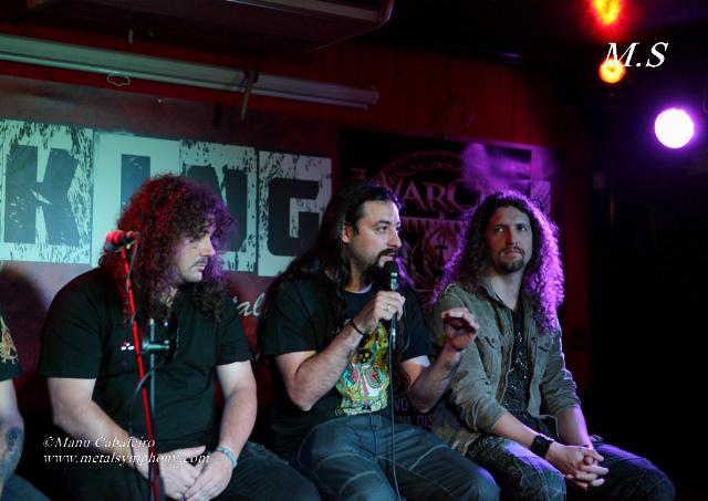 """Warcry – Rueda de prensa presentación de """"Inmortal"""" – 14 septiembre ´13 - Breakin Bar (Madrid)"""