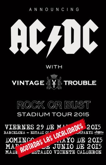 Vintage Trouble teloneros de AC/DC en España
