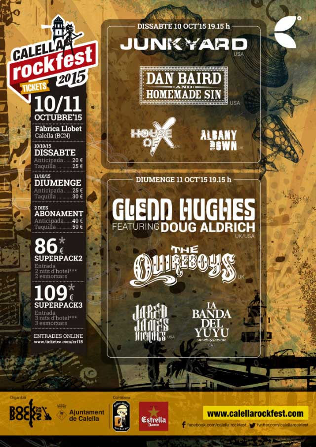 Detalles de la tercera edición del Calella Rock Fest'15