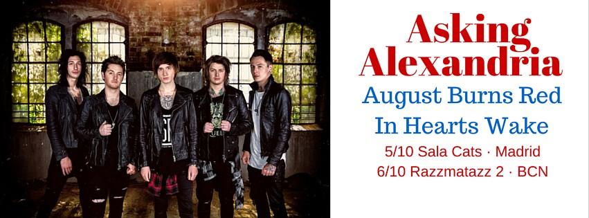 Fechas de la gira española de Asking Alexandria