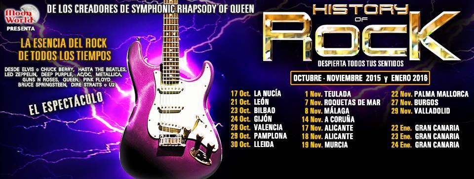 Fechas del espectáculo «History of Rock»