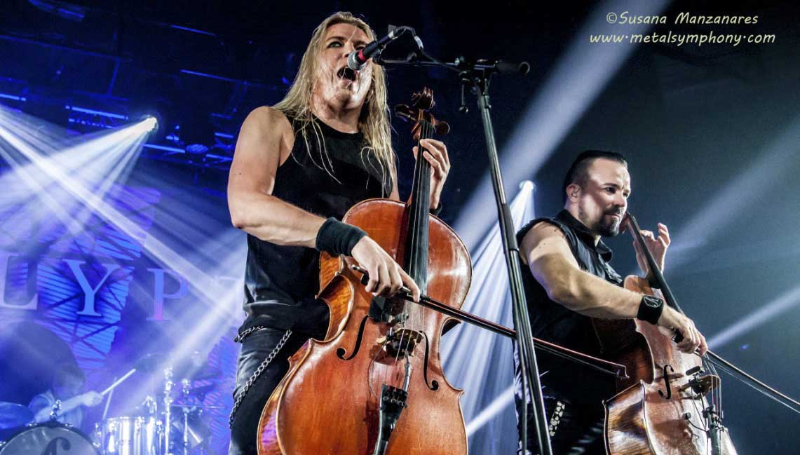 Apocalyptica por España celebrando el aniversario de «Plays Metallica by Four Cellos»