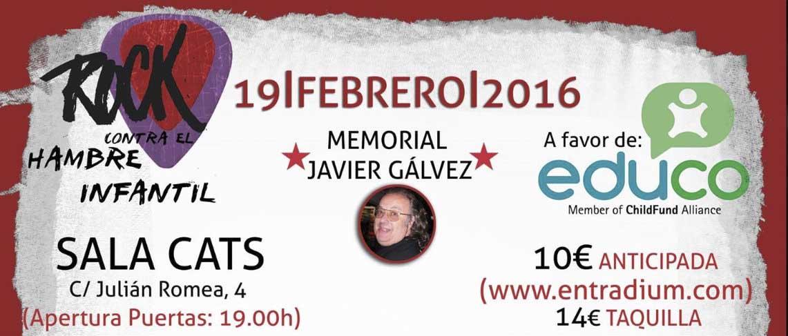 """Festival Benéfico – """"Rock Contra El Hambre Infantil"""" 2ª Edición – Memorial Javier Gálvez"""