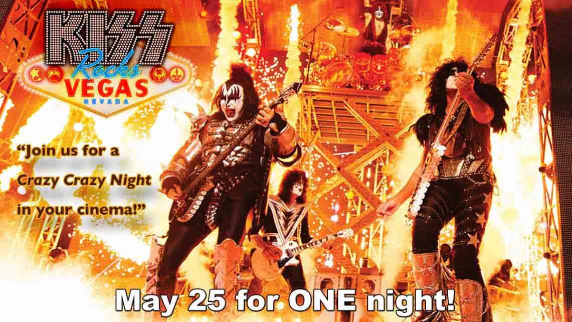 A poco más de un mes, KISS Rocks Vegas en los cines