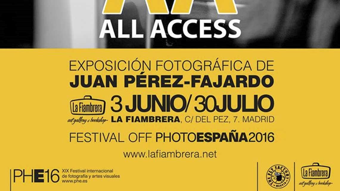 El mes que viene «All Access» de Juan Pérez-Fajardo en La Fiambrera (Madrid)