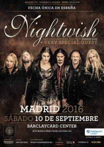Fecha única de Nightwish en España