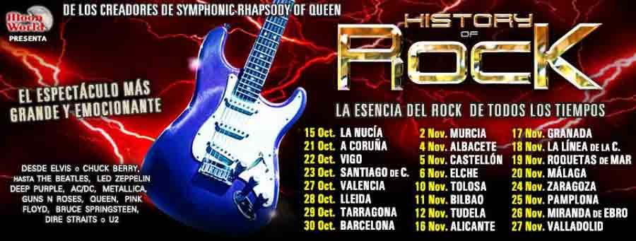 Vuelve History Of Rock , Nuevo Tour Octubre – Noviembre 2016