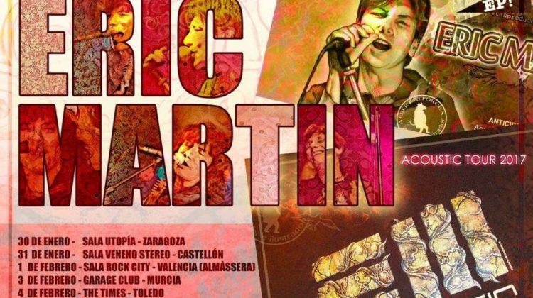 Ya queda menos para la gira acústica de Eric Martin por España