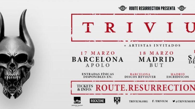 Fechas de la gira española de Trivium