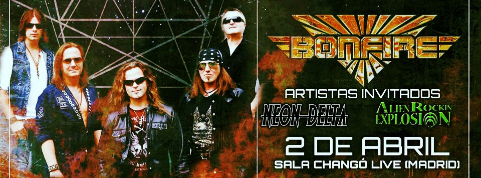 Detalles del concierto de Bonfire en Madrid