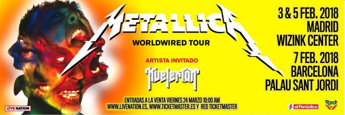 Setlist del WorldWired Tour de Metallica