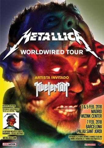 Metallica confirma 3 conciertos en España en 2018