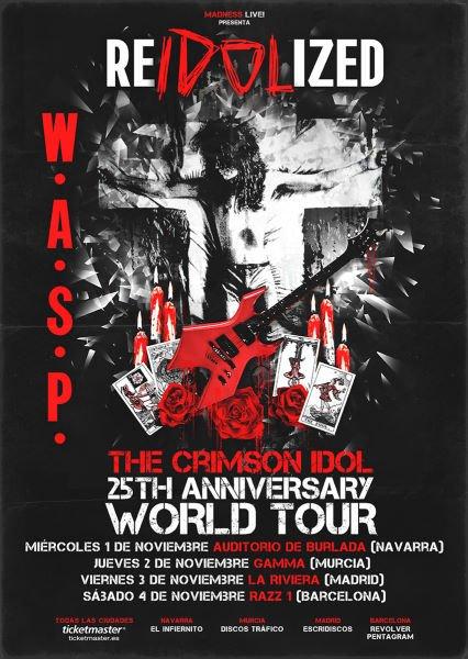 Fechas de la gira especial de W.A.S.P por España