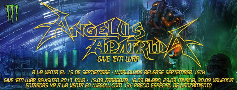 Conciertos especiales por el décimo aniversario del 'Give 'Em War' de Angelus Apatrida