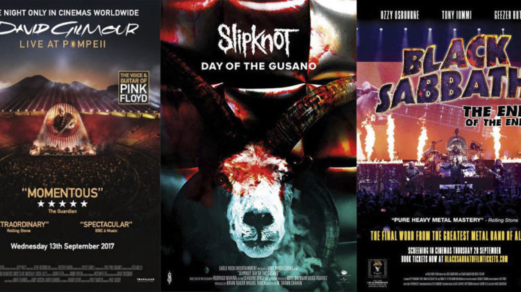 David Gilmour, Slipknot y Black Sabbath en el cine