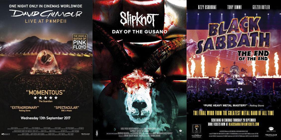 David Gilmour, Slipknot y Black Sabbath en el cine