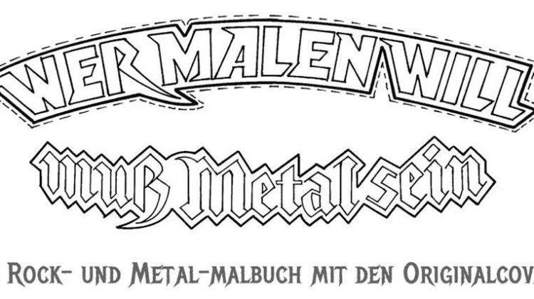 """Vuelve Renatus Töpke con """"Wer malen will, muss rocken können"""" otro libro para colorear en clave de rock..."""