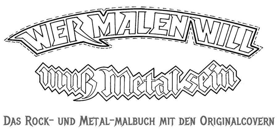"""Vuelve Renatus Töpke con """"Wer malen will, muss rocken können"""" otro libro para colorear en clave de rock…"""