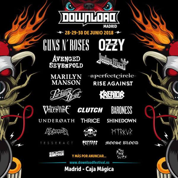 Nuevas confirmaciones para el Download Festival'18 de Madrid