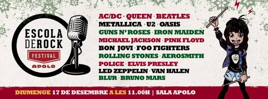 Vuelve la Escola de Rock este domingo en la Sala Apolo de Barcelona