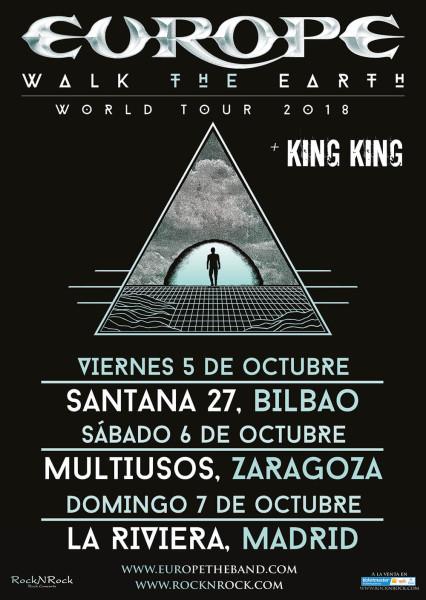 Nueva gira de Europe por España