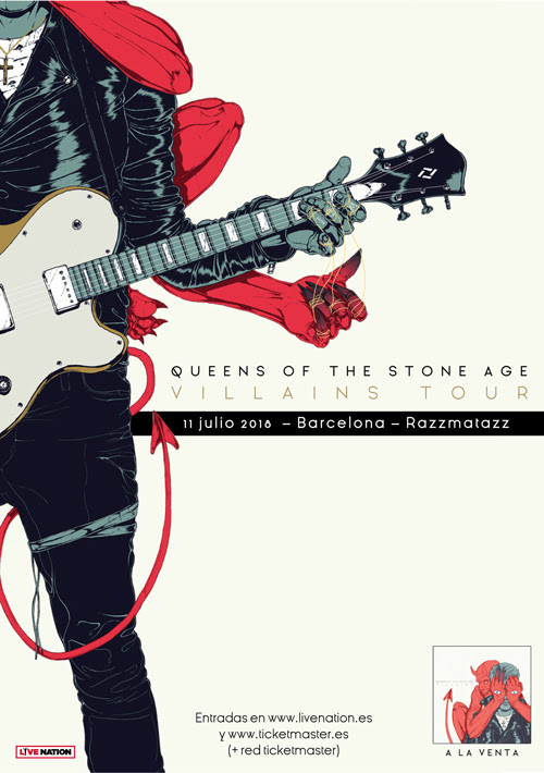 Queens of the Stone Age actuarán en Barcelona en Julio