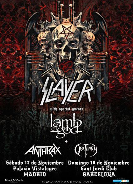 El Final Tour de Slayer pasará por Madrid y Barcelona