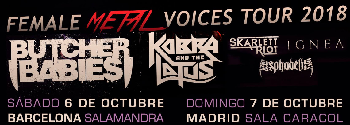 Female Metal Voices 2018 por España con Butcher Babies y Kobra and the Lotus