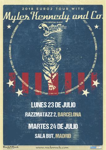 Conciertos de Myles Kennedy en solitario por España