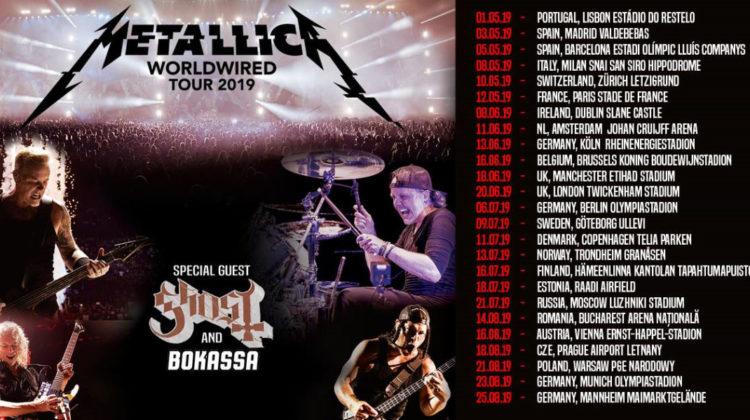 Metallica anuncia su gira de estadios con 2 fechas en España