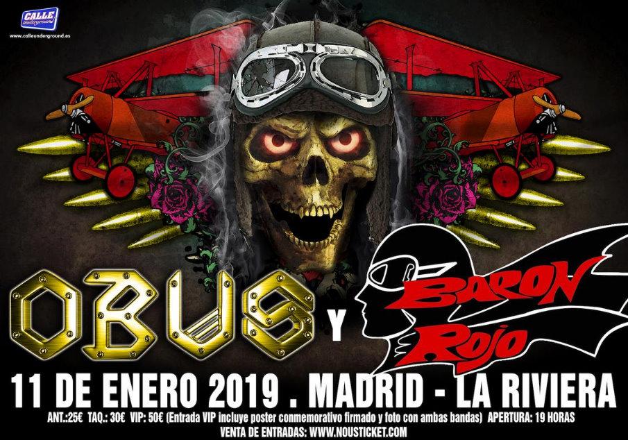 Concierto de Obús y Barón Rojo en Madrid