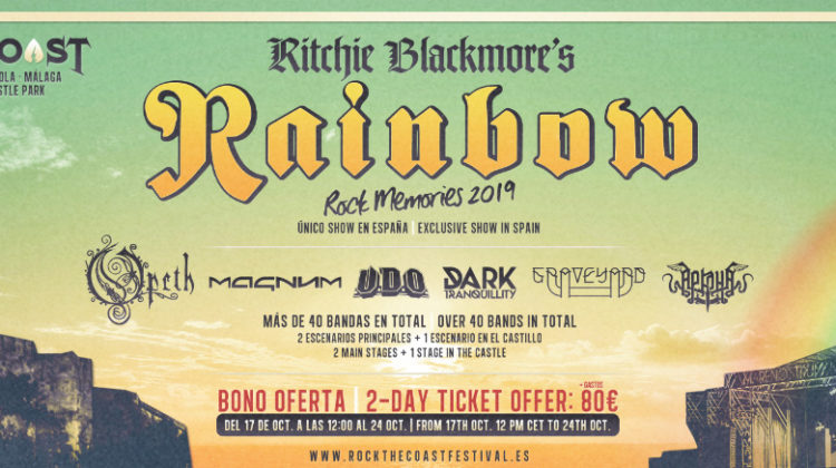 Nace el Rock the Coast en Málaga, con Rainbow en fecha exclusiva