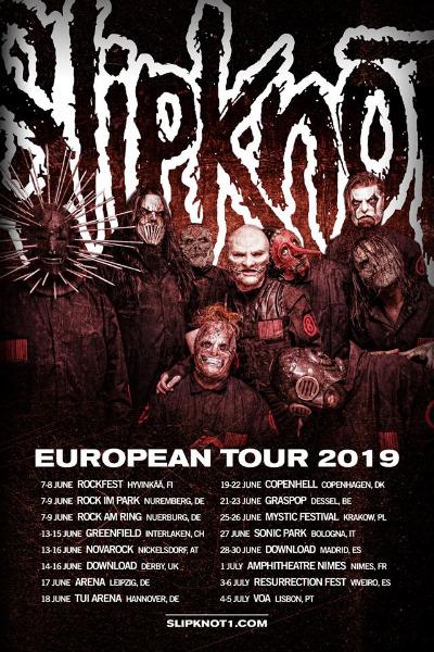 Slipknot volverá a España en verano de 2019