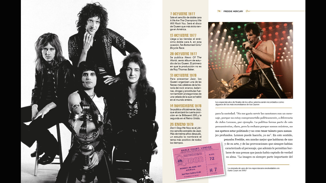 La leyenda de Freddie Mercury a través de los momentos esenciales de su vida y de su carrera