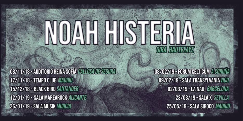 Nuevo vídeo y próximas fechas de Noah Histeria