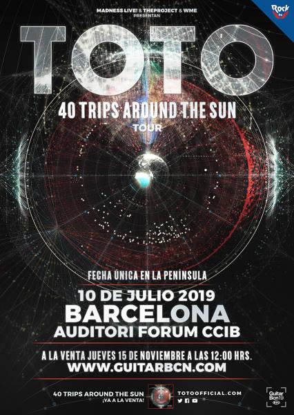 Fecha exclusiva de TOTO en Barcelona para 2019