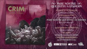 Crim: Pare Nostre Que Esteu A L'infern // Bcore Disc, Contra Records, Pirates Press Records