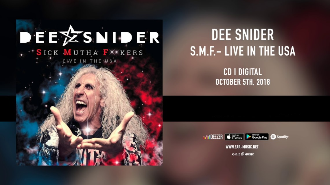Dee Snider: Sick Mutha F**kers – Live In The USA // earMUSIC