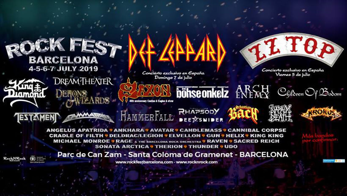 Más confirmaciones para el Rock Fest Barcelona'19