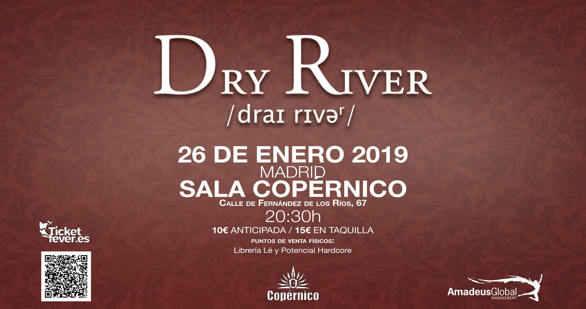 Madrid Vuelve Al «2038» Con Dry River Y Su Próximo Concierto En La Capital
