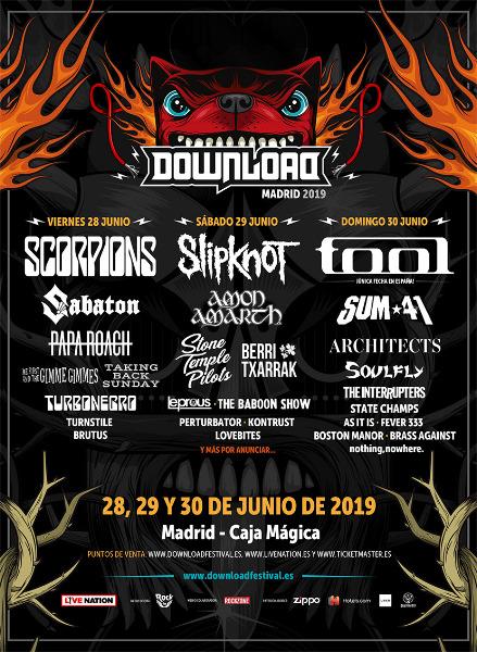 Más bandas confirmadas para el Download Festival de Madrid