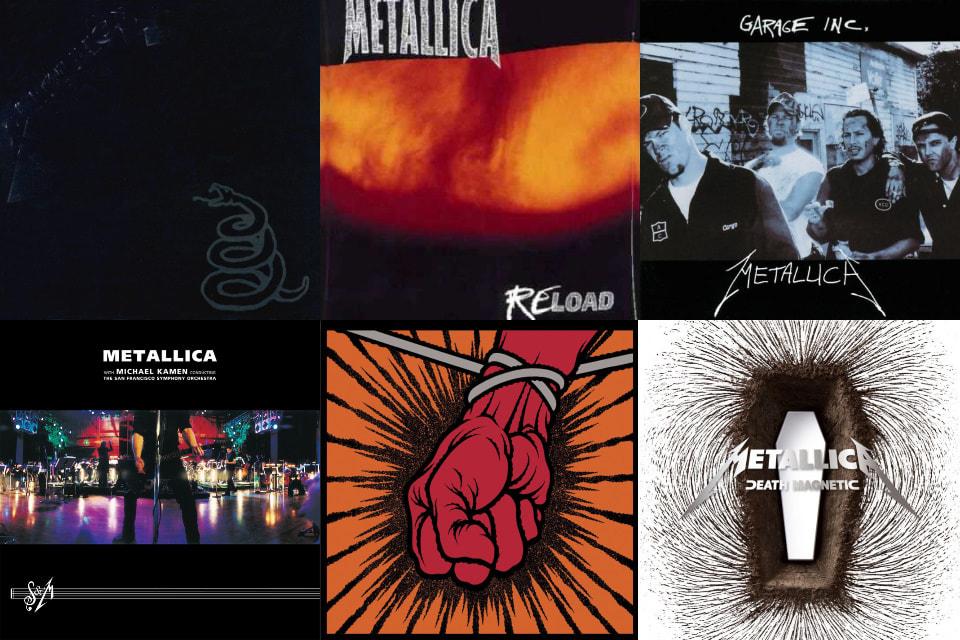 La lista de grammy's de Metallica