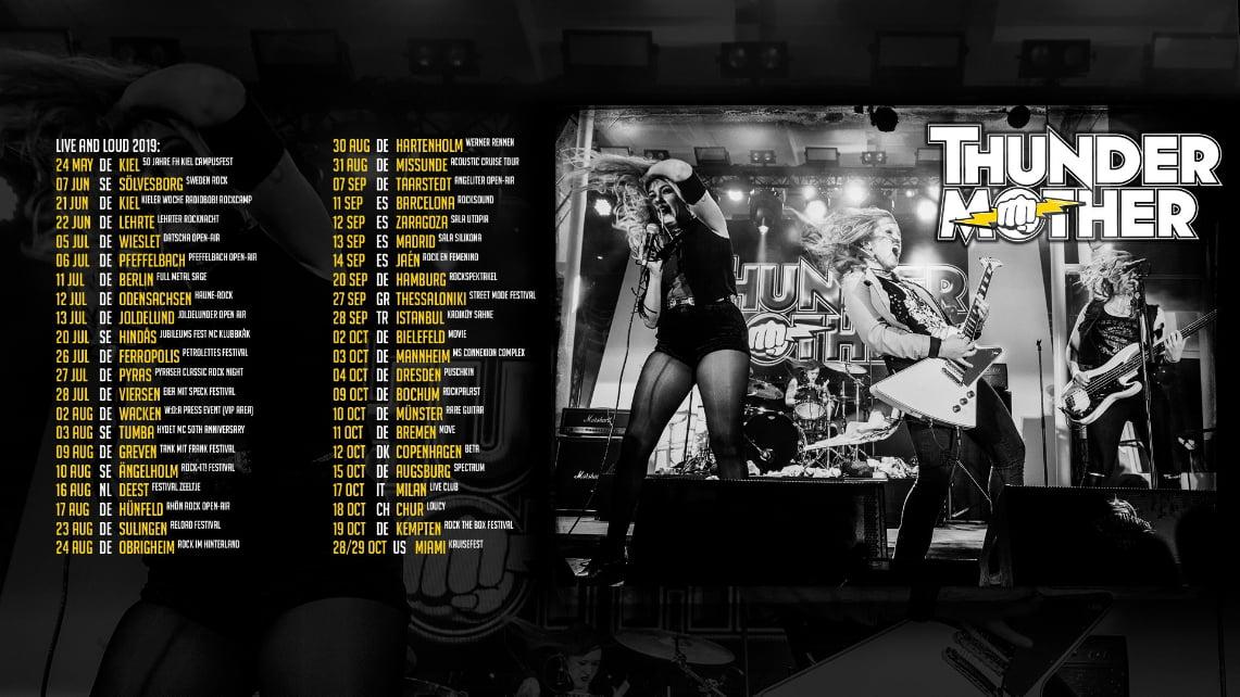Un mes para la gira de Thundermother por España