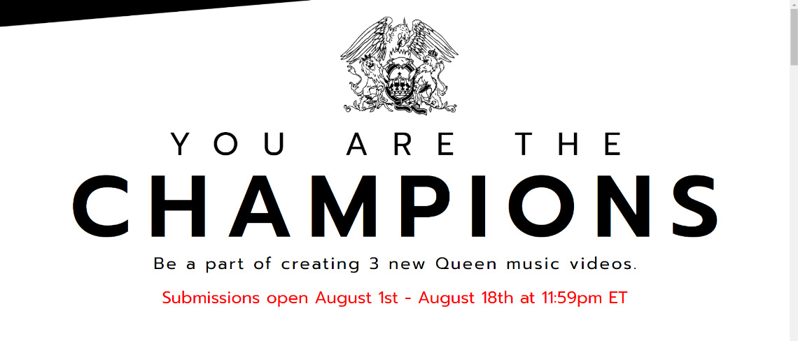 Queen lanza para sus fans «You are the champions», así se participa