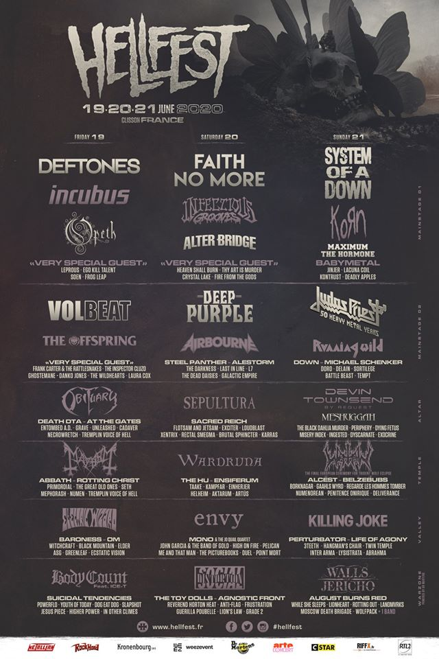 Cartel completo del Hellfest 2020