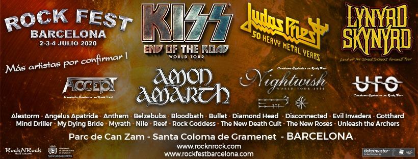 Nuevas confirmaciones para el Rock Fest BCN 2020
