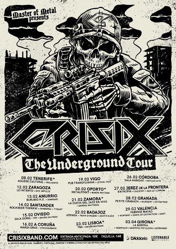 Crisix, Rise to fall, Débler, Arwen, WarCry, Koma, Galia Metal Fest...