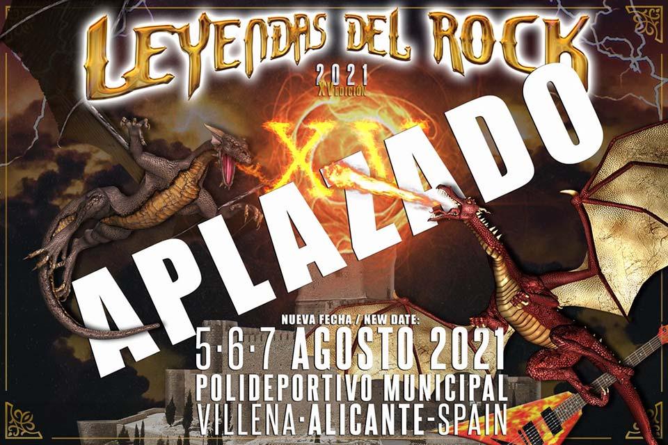 Leyendas del Rock, aplazado a agosto de 2021