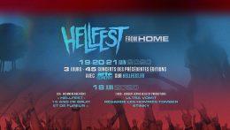 Distribución por días del Hellfest From Home