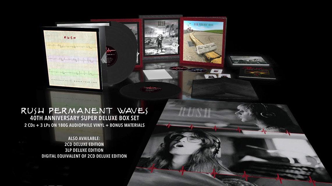 Reediciones especiales del «Permanent Waves» de Rush por su 40 aniversario